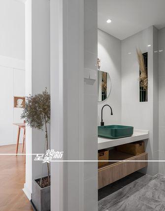 80平米三室一厅北欧风格卫生间装修案例
