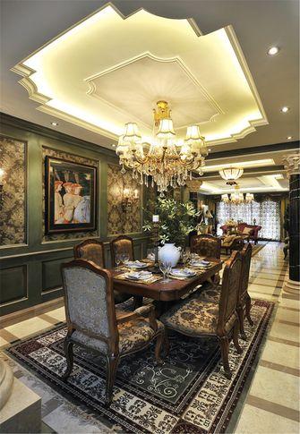 140平米三室两厅新古典风格厨房装修图片大全