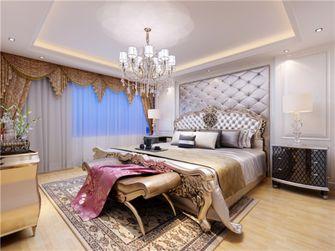 140平米三室两厅欧式风格卧室背景墙装修效果图