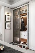 130平米三室两厅中式风格衣帽间效果图