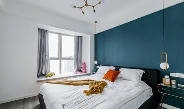 80平米三室两厅北欧风格卧室装修案例