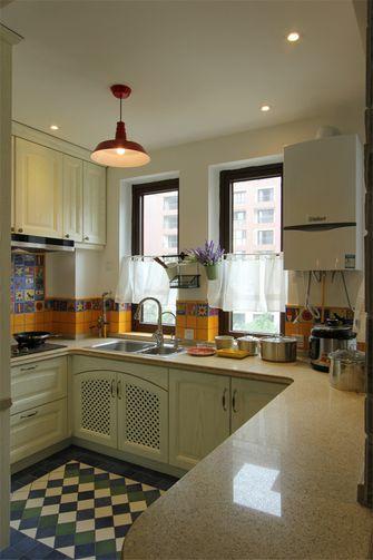90平米三室一厅田园风格厨房设计图