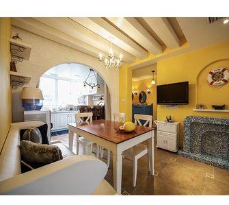 130平米三室两厅地中海风格餐厅效果图