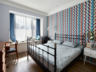 90平米公寓美式风格儿童房欣赏图