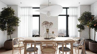 100平米一室一厅现代简约风格餐厅图片