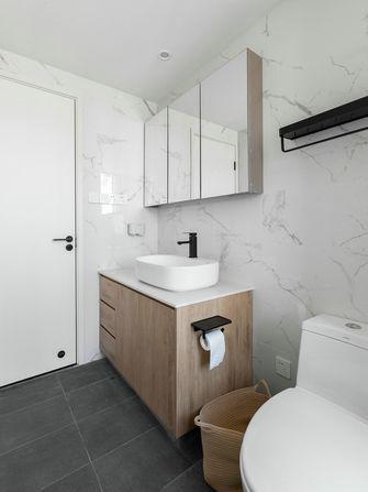 80平米三室一厅现代简约风格卫生间装修案例