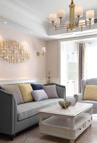 80平米美式风格客厅图片
