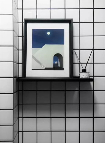 60平米公寓现代简约风格卫生间图