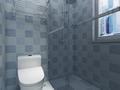 110平米三室两厅地中海风格卫生间图片