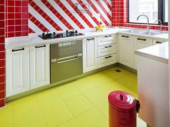 100平米三室一厅田园风格厨房装修案例